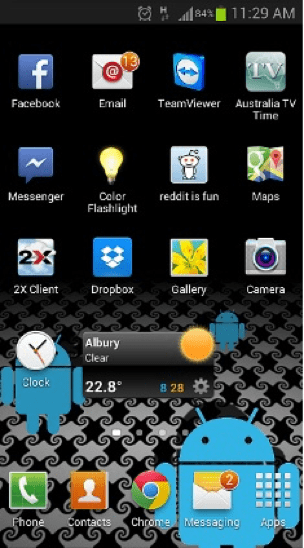 unread message on android