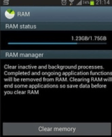 clean ram on android
