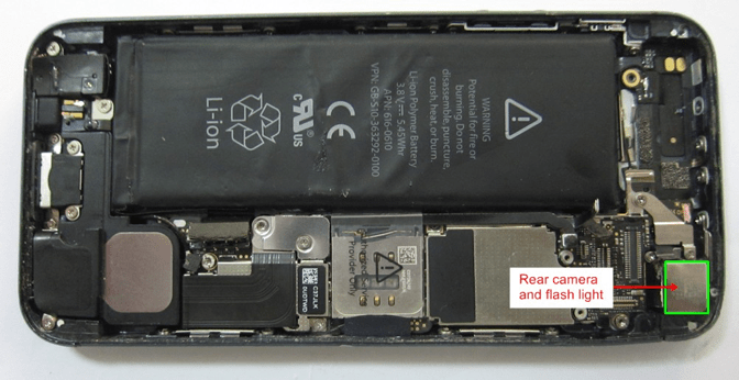Dissasembled Iphone 4
