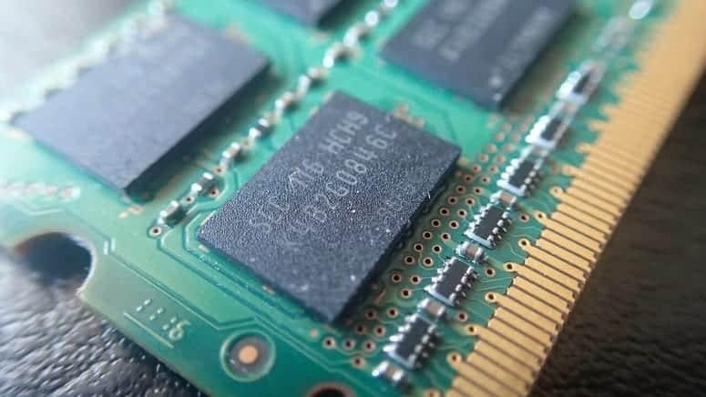 RAM Chips on a RAM board