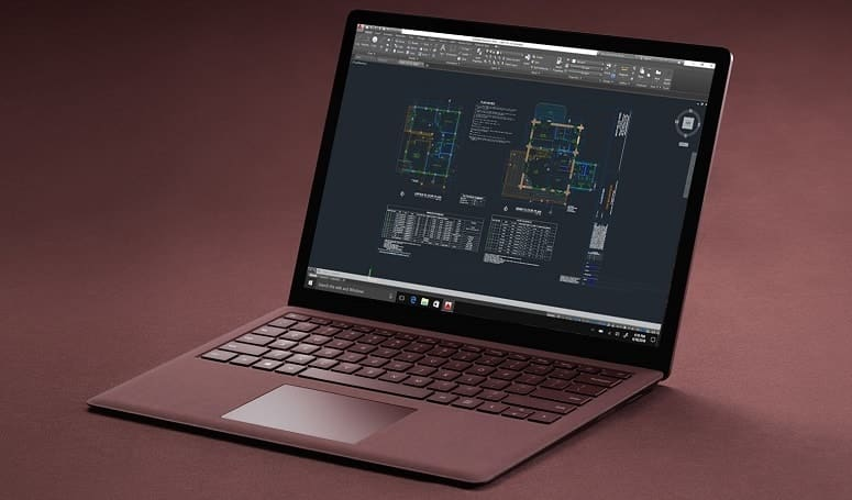 Laptop With AutoCAD