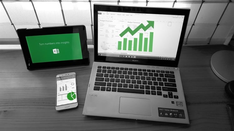 Excel On The Laptop