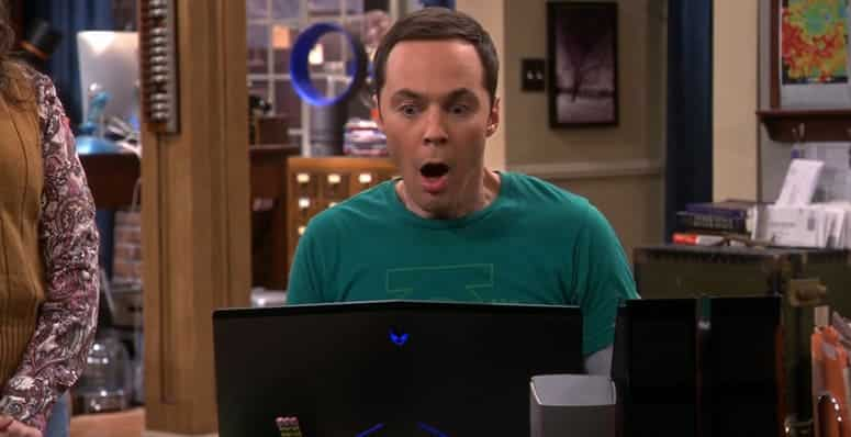 Alienware Laptop on the big bang theory