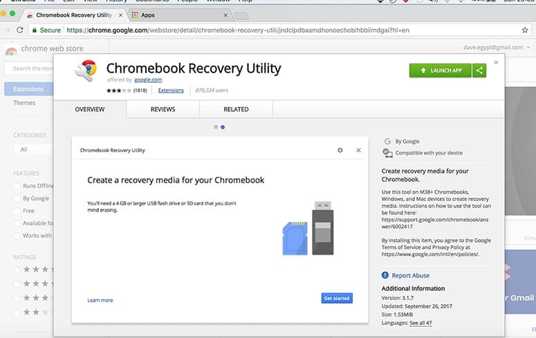 Chromebook Recovery Tool