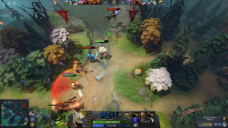Dota 2 Tiny Lane Phase