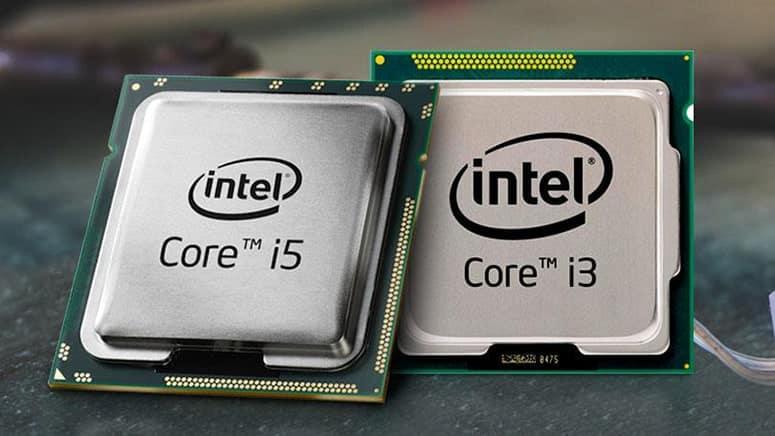 Intel i5 and i3