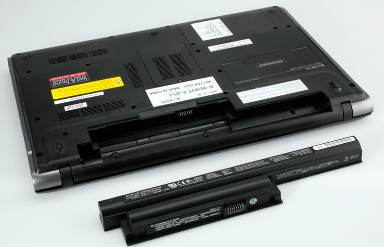 Batteries in Laptop