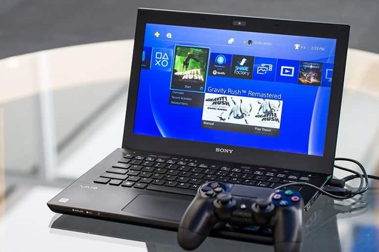 Dualshock 4 conneted to Laptop for Remote play
