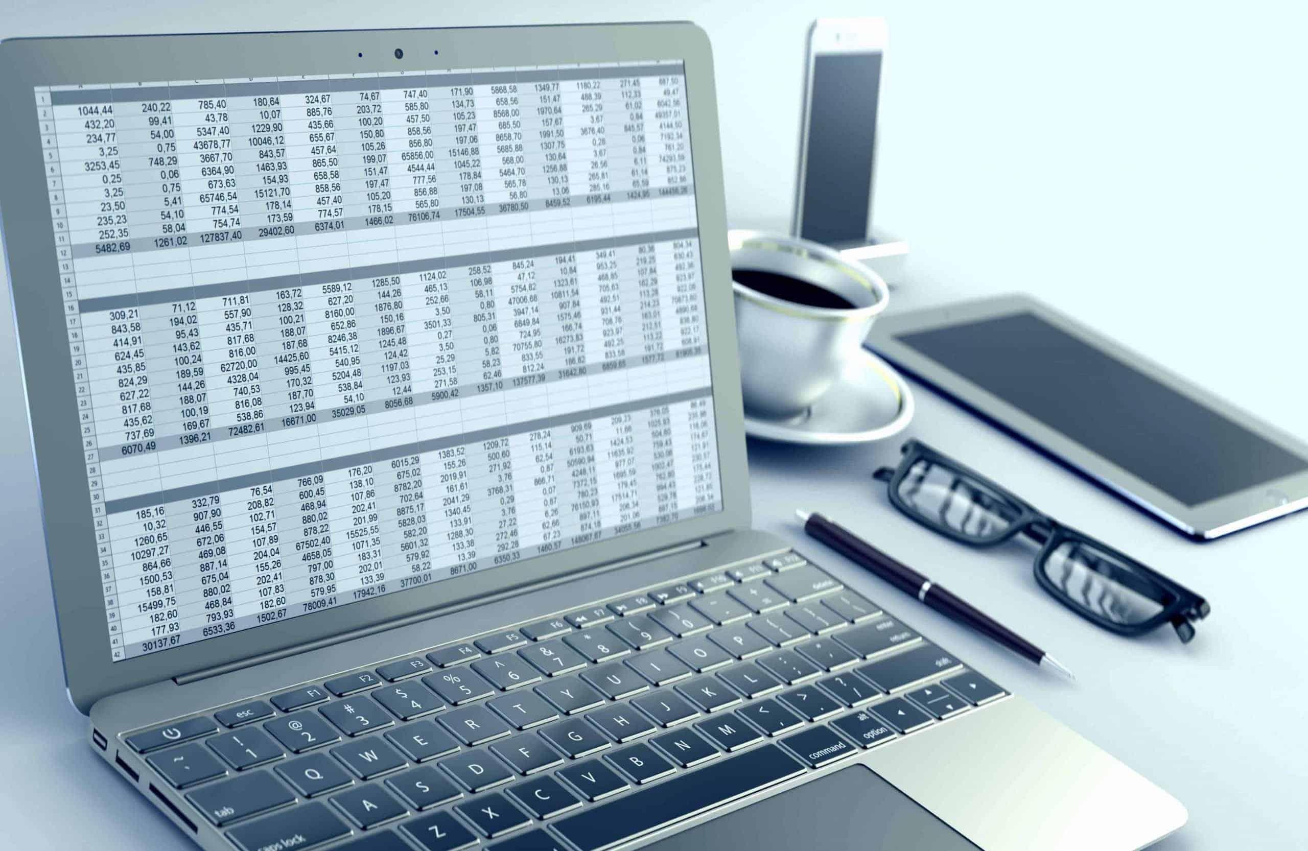 Spreadsheet in Laptops