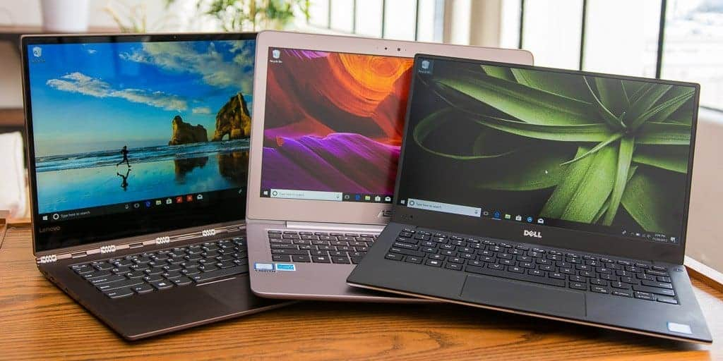 Ultrabooks on a table