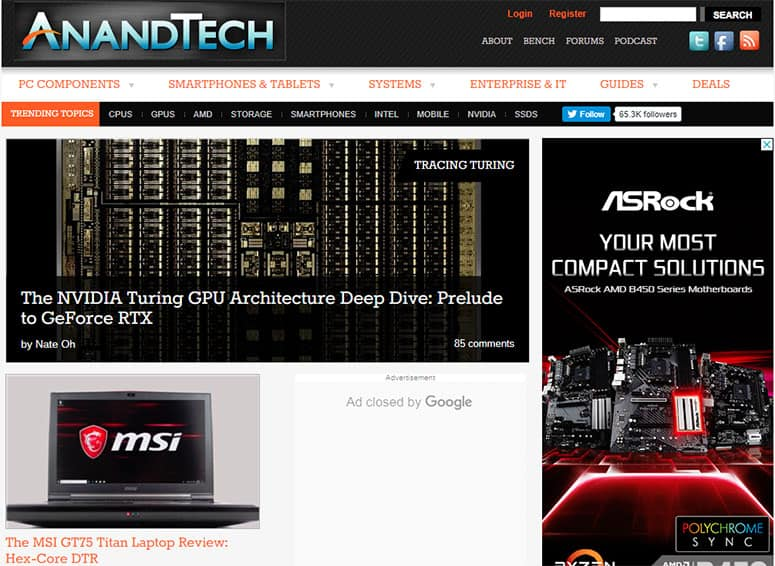 Anandtech Website