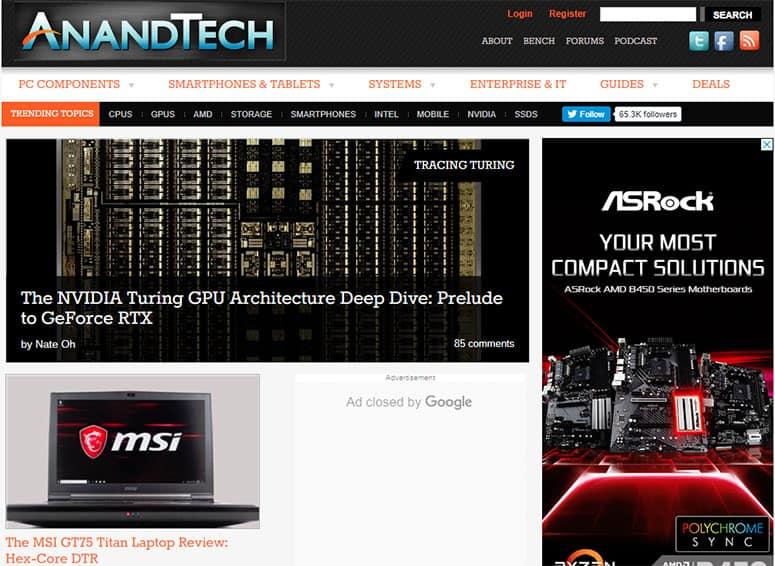 Anandtech Website