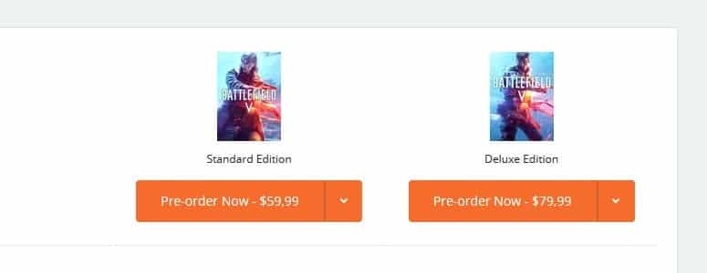 Battlefield 5 Preorder Expensive