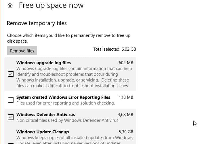 Temporary Files Removal