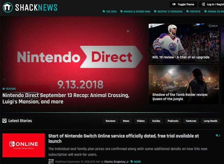 Shack News Website
