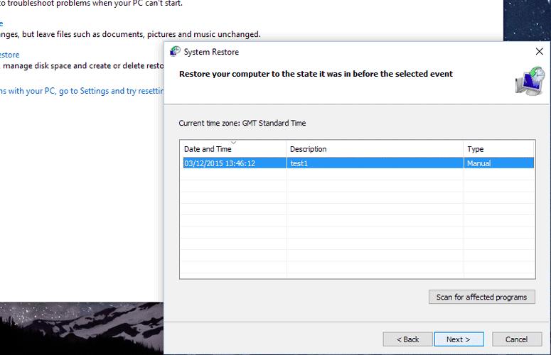 Windows System Restores